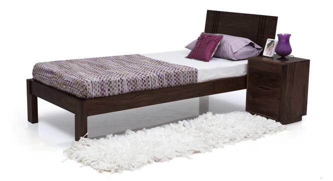 Yorktown Single Bed With Essential Memory Foam Mattress (Mahogany Finish) by Urban Ladder