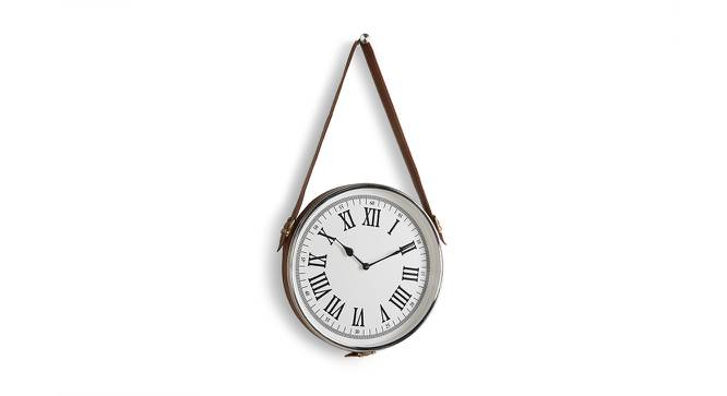 Haskins Wall Clock (Nickel Finish) by Urban Ladder