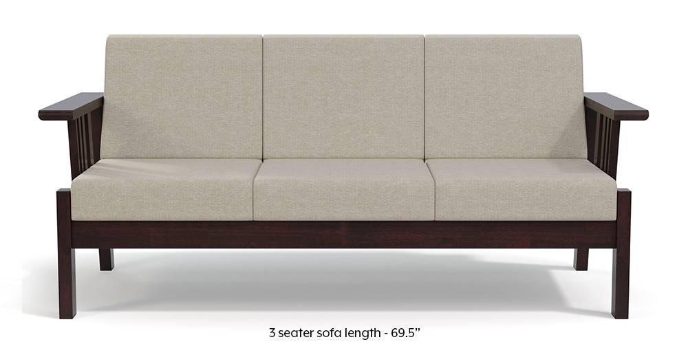 Glen Wooden Sofa (Beige) by Urban Ladder