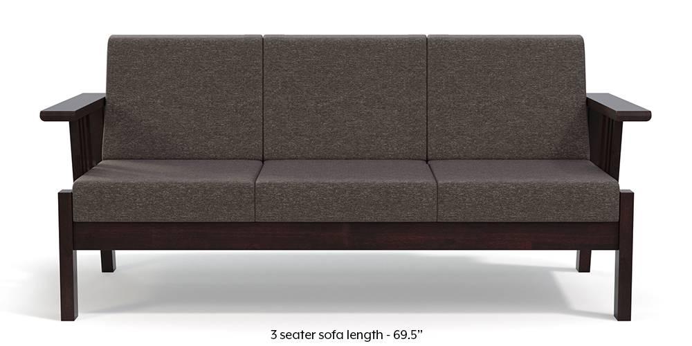 Glens Wooden Sofa (Grey) by Urban Ladder