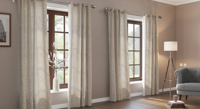 "Lismore Jacquard Door Curtains (Set of 2) (Multi Colour, 54"" x 108"" Curtain Size) by Urban Ladder"