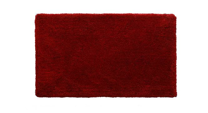 "Sherwood Super Soft Shaggy Rug (Red, 152 x 244 cm  (60"" x 96"") Carpet Size) by Urban Ladder - Design 1 Top View - 222289"