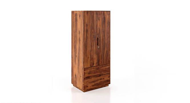 Zephyr Wardrobe (Teak Finish) by Urban Ladder - Front View Design 1 - 222297