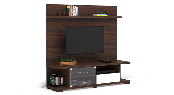 "Iwaki Swivel 59"" TV Unit (Dark Walnut Finish, Floor Standing Unit) by Urban Ladder"