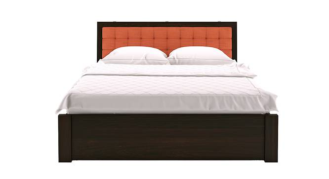 Florence Storage Bed (Solid Wood) (Mahogany Finish, Queen Bed Size, Lava, Drawer Storage Type) by Urban Ladder - Design 1 Half View - 222582