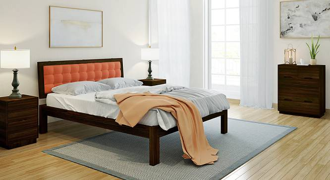 Florence Bed (Solid Wood) (Mahogany Finish, Queen Bed Size, Lava) by Urban Ladder - Design 1 Full View - 222611