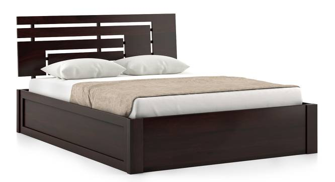 Stockholm Hydraulic Bed (Mahogany Finish, Queen Bed Size) by Urban Ladder
