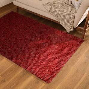 """Tashi Carpet (Red, 60"""" x 84"""" Carpet Size) by Urban Ladder"""