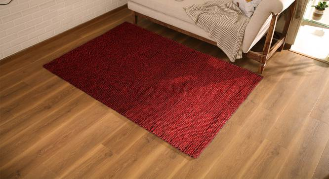 "Tashi Carpet (Red, 60"" x 84"" Carpet Size) by Urban Ladder"