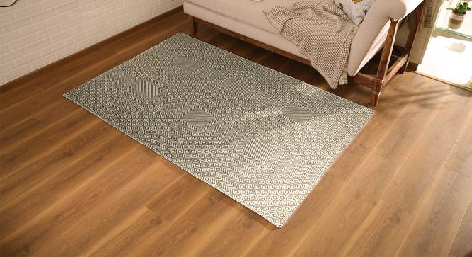 "Tiago Dhurrie (91 x 152 cm  (36"" x 60"") Carpet Size) by Urban Ladder - Design 1 Full View - 222739"