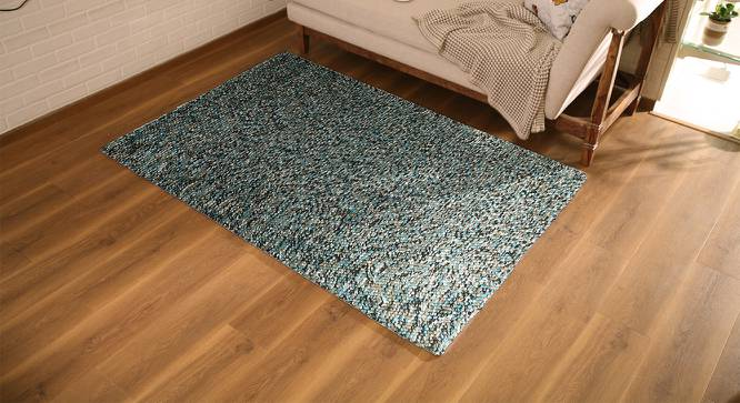 "Tashi Carpet (Blue, 48"" x 72"" Carpet Size) by Urban Ladder"