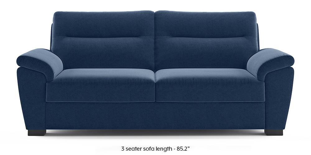 Adelaide Sofa (Lapis Blue) (1-seater Custom Set - Sofas, None Standard Set - Sofas, Fabric Sofa Material, Regular Sofa Size, Regular Sofa Type, Lapis Blue) by Urban Ladder - - 222869