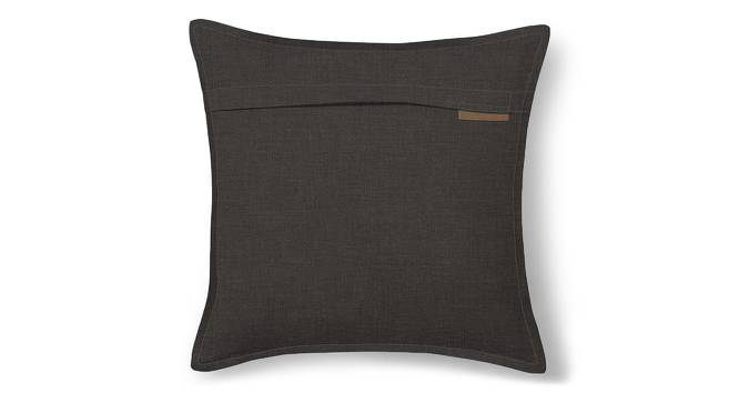 "Tito Cushion Cover - Set Of 2 (16"" X 16"" Cushion Size, Charcoal Grey) by Urban Ladder"