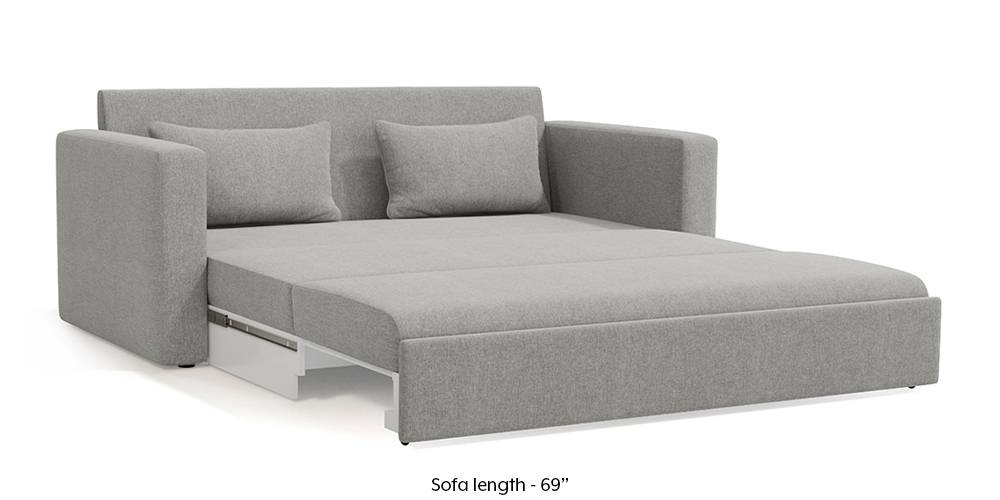 Camden Sofa Cum Bed (Vapour Grey) (3-seater Custom Set - Sofas, None Standard Set - Sofas, Fabric Sofa Material, Regular Sofa Size, Regular Sofa Type, Vapour Grey) by Urban Ladder
