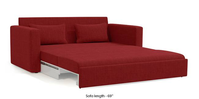 Camden Sofa Cum Bed (Salsa Red) (3-seater Custom Set - Sofas, None Standard Set - Sofas, Fabric Sofa Material, Regular Sofa Size, Regular Sofa Type, Salsa Red)