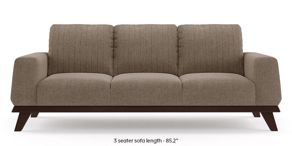 Granada Sofa (Mist Brown) (1-seater Custom Set - Sofas, None Standard Set - Sofas, Mist, Fabric Sofa Material, Regular Sofa Size, Regular Sofa Type) by Urban Ladder