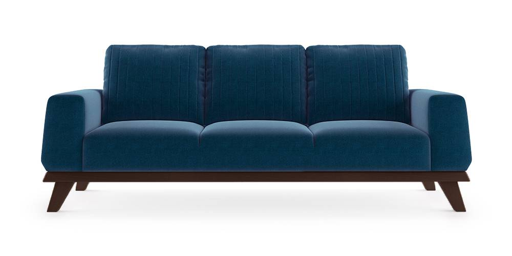Granada Sofa (Cobalt Blue) (1-seater Custom Set - Sofas, None Standard Set - Sofas, Cobalt, Fabric Sofa Material, Regular Sofa Size, Regular Sofa Type) by Urban Ladder - - 223302