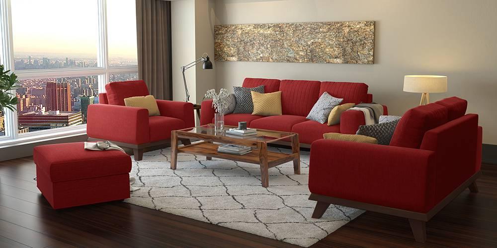 Granada Sofa (Salsa Red) (2-seater Custom Set - Sofas, None Standard Set - Sofas, Fabric Sofa Material, Regular Sofa Size, Regular Sofa Type, Salsa Red) by Urban Ladder