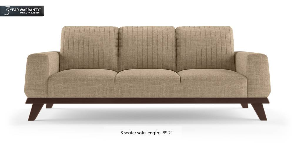Granada Sofa (Sandshell Beige) (1-seater Custom Set - Sofas, None Standard Set - Sofas, Fabric Sofa Material, Regular Sofa Size, Regular Sofa Type, Sandshell Beige) by Urban Ladder