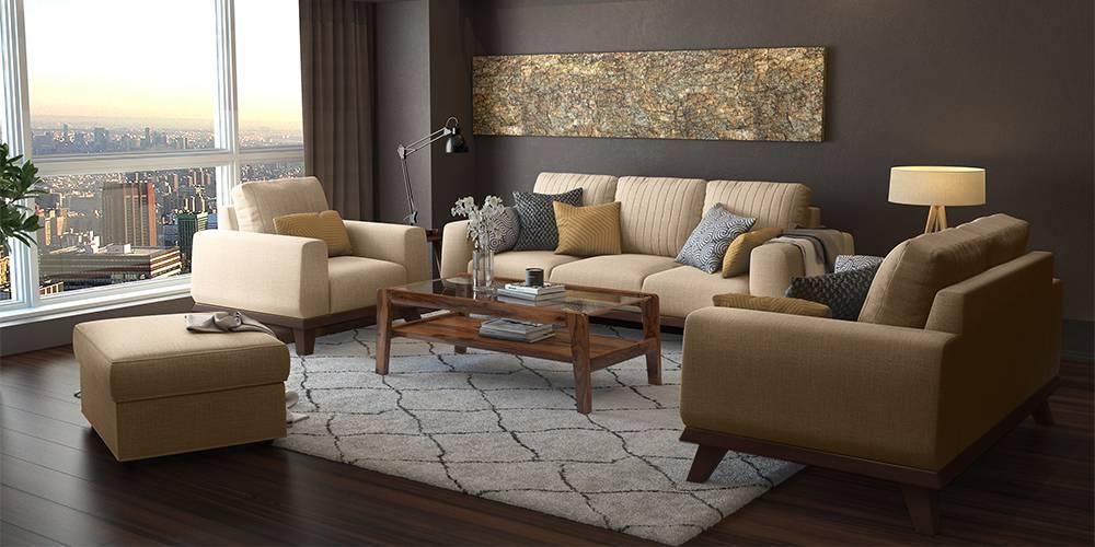 Granada Sofa (Sandshell Beige) (1-seater Custom Set - Sofas, None Standard Set - Sofas, Fabric Sofa Material, Regular Sofa Size, Regular Sofa Type, Sandshell Beige) by Urban Ladder