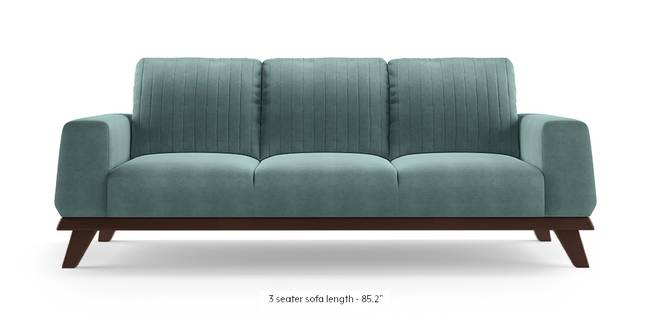 Granada Sofa (Dusty Turquoise Velvet) (1-seater Custom Set - Sofas, None Standard Set - Sofas, Fabric Sofa Material, Regular Sofa Size, Regular Sofa Type, Dusty Turquoise Velvet)