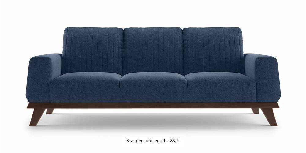 Granada Sofa (Lapis Blue) (1-seater Custom Set - Sofas, None Standard Set - Sofas, Fabric Sofa Material, Regular Sofa Size, Regular Sofa Type, Lapis Blue) by Urban Ladder