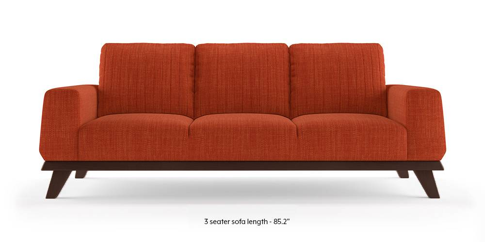 Granada Sofa (Lava Rust) (1-seater Custom Set - Sofas, None Standard Set - Sofas, Lava, Fabric Sofa Material, Regular Sofa Size, Regular Sofa Type) by Urban Ladder - - 223419