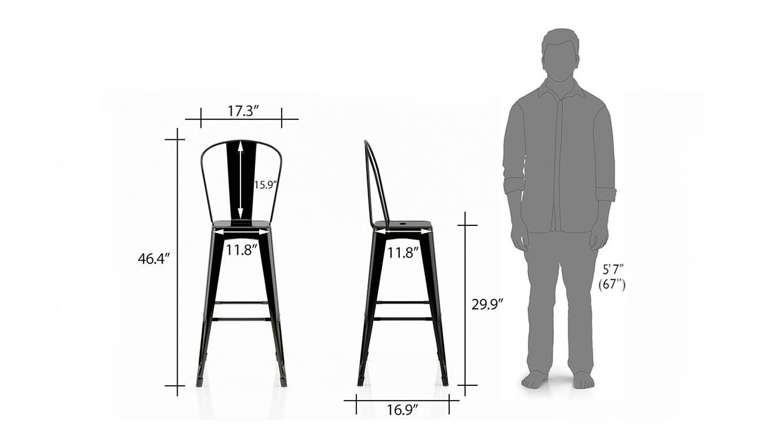 Getty bar chair black 5