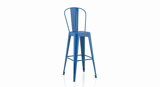 Getty Bar Chair - Set Of 4 (Blue) by Urban Ladder