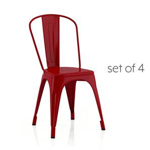 Colt metal chair red lp