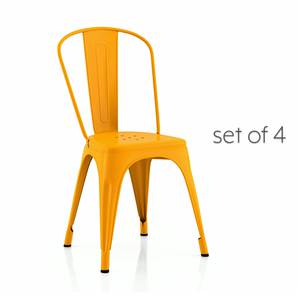 Colt Metal Chair - Set Of 4 (Yellow) by Urban Ladder