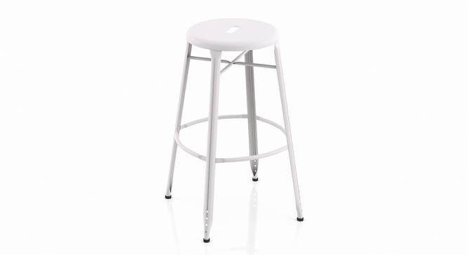 Ford Metal Bar Stool - Set Of 4 (White) by Urban Ladder