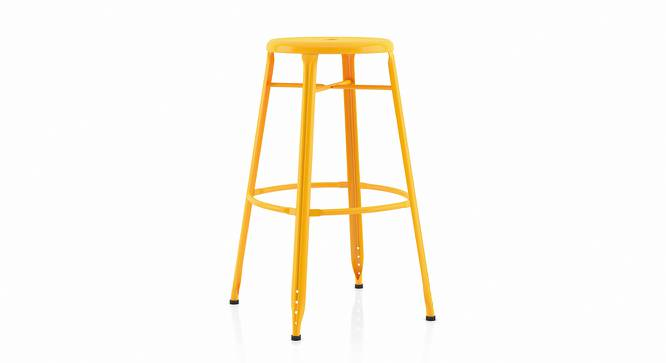 Ford Metal Bar Stool - Set Of 4 (Yellow) by Urban Ladder