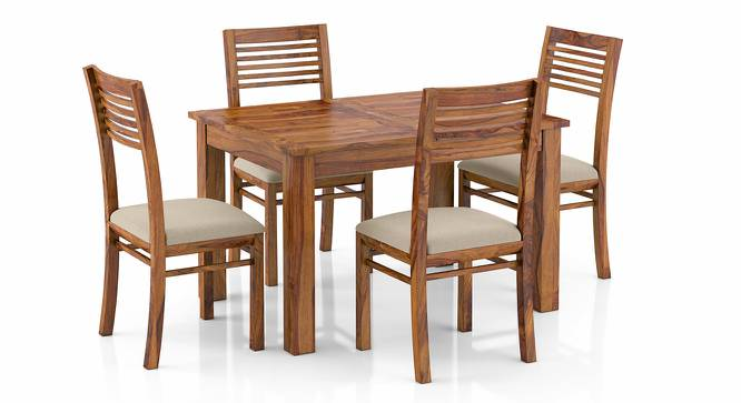 Arabia 4-to-6 Extendable - Zella 4 Seater Dining Table Set (Teak Finish, Wheat Brown) by Urban Ladder - Front View Design 1 - 223639