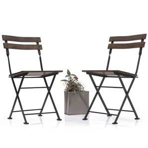 Masai Patio Chairs - Set of Two (Teak Finish) (Black) by Urban Ladder - - 2278