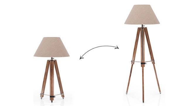 Kepler Tripod Floor Lamp (Natural Base Finish, Natural Shade Color, Conical Shade Shape) by Urban Ladder - - 22846