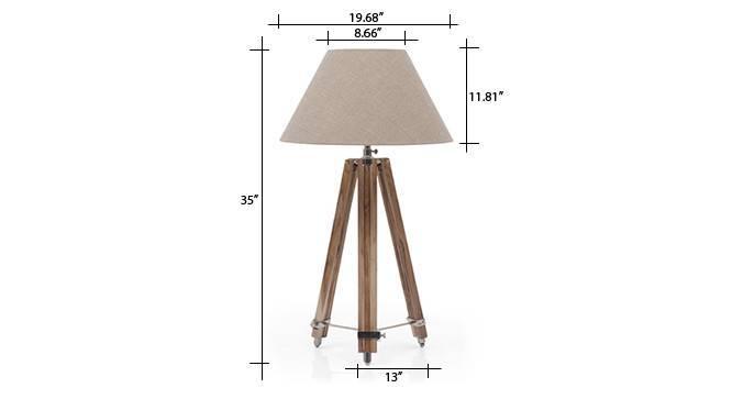 Kepler tripod floor lamp natural linen conical shade 8 img 0160 dm