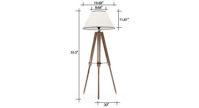 Kepler tripod floorlamp cotton white conical shade 9 img 0109 dm