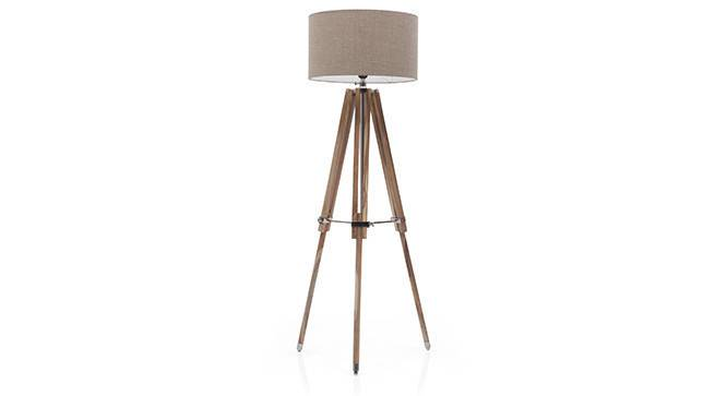 Kepler Tripod Floor Lamp (Natural Base Finish, Natural Shade Color, Drum Shade Shape) by Urban Ladder