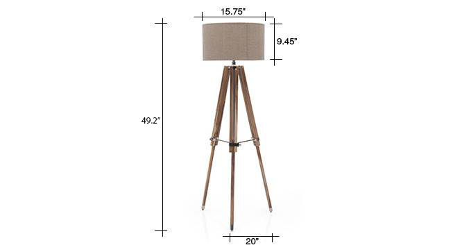 Kepler tripod floor lamp natural linen drum shade replaced 4