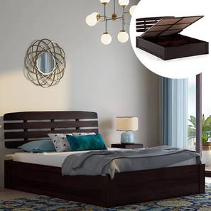 Sampson Hydraulic Storage Bed (Mahogany Finish, Queen Bed Size) by Urban Ladder