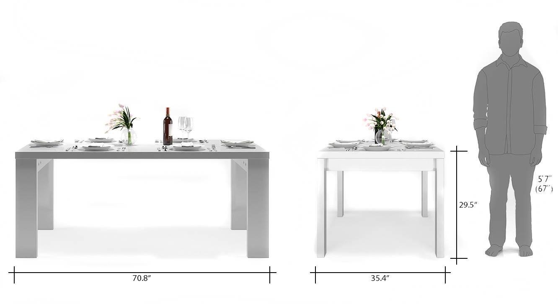 Kariba ingrid 6 seater high gloss dining table set 10