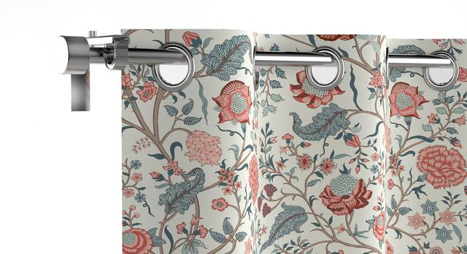 "Calico Window Curtains - Set of 2 (54"" x 60"" Curtain Size, Floral Retreat) by Urban Ladder"