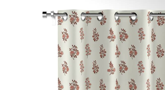 "Calico Window Curtains - Set of 2 (54"" x 60"" Curtain Size, Leaves & Blossoms) by Urban Ladder"