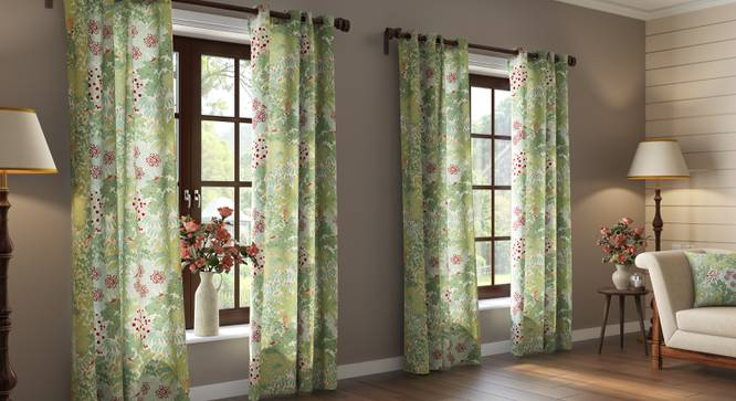 "Tree of Life Door Curtains  (Set of 2) (Multi Colour, 54"" x 108"" Curtain Size, Thicket Pattern) by Urban Ladder"