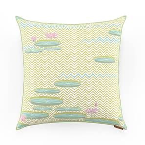"""Tree Of Life Cushion Cover - Set Of 2 (16"""" X 16"""" Cushion Size, Pond Pattern) by Urban Ladder"""