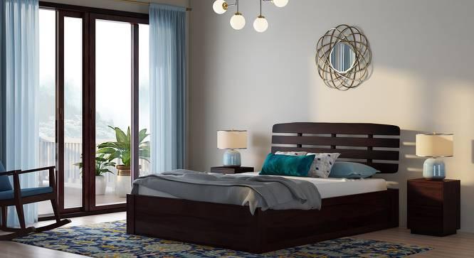 Sampson Storage Bed (Mahogany Finish, King Bed Size, Box Storage Type) by Urban Ladder