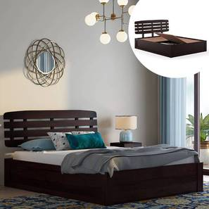 Sampson Storage Bed (Solid Wood) (Mahogany Finish, Queen Bed Size, Box Storage Type) by Urban Ladder - Design 1 Full View - 230324