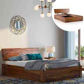 Marieta Storage Bed (Solid Wood) (Teak Finish, King Bed Size, Box Storage Type) by Urban Ladder - Design 1 Full View - 230379