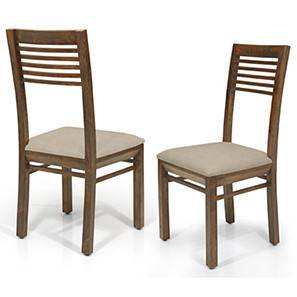 Zella Dining Chairs - Set of 2 (Teak Finish, Wheat Brown) by Urban Ladder - - 23044